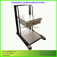 Single Layer Sheet Metal Medical Trolley Cart by Laser Cutting