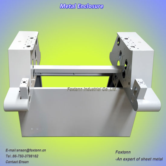 Sheet Metal Processing Machine Enclosure Powder Coated Steel Cabinet
