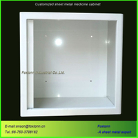 Sheet Metal Fabrication Wall Mounted Medical Cabinet