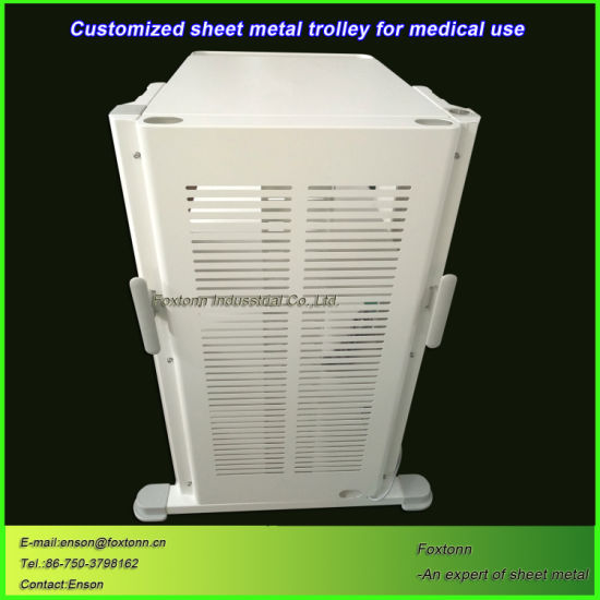 Castered Sheet Metal Trolley Custom Hospital Cart