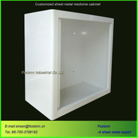 Customized Sheet Metal Bending Parts Wall Mounted Storage Cabinet