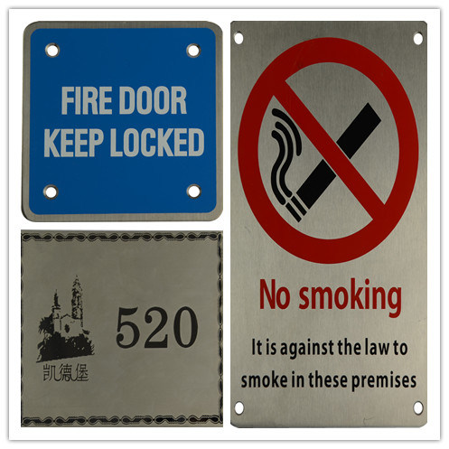 OEM Stainless Steel Fabrication Public Caution Signs